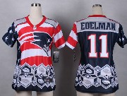 women  nfl New England Patriots #11 Julian Edelman blue 2015 noble fashion elite jersey