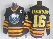 Mens nhl buffalo sabres #16 lafontaine dark blue throwbacks Jersey
