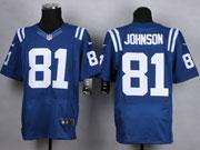 Mens Nfl Indianapolis Colts #81 Johnson Blue Elite Jersey