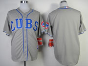 Mens Mlb Chicago Cubs (blank) Gray New Style Jersey