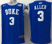 Mens Ncaa Nba Duke Blue Devils #3 Allen Blue (round Neck) Jersey