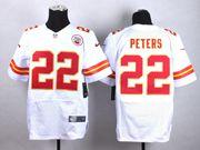 Mens Nfl Kansas City Chiefs #22 Peters White Elite Jersey