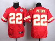 Mens Nfl Kansas City Chiefs #22 Peters Red Elite Jersey