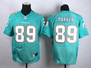 Mens Nfl Miami Dolphins #89 Parker Green Elite Jersey