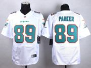 Mens Nfl Miami Dolphins #89 Parker White Elite Jersey