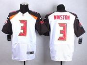 mens nfl Tampa Bay Buccaneers #3 Jameis Winston (2015 new) white elite jersey