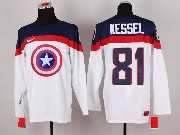 Mens nhl captain america #81 kessel white Jersey