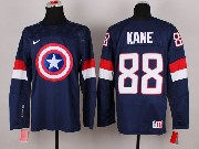 Mens nhl captain america #88 kane blue Jersey