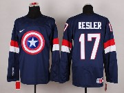 Mens nhl captain america #17 kesler blue Jersey