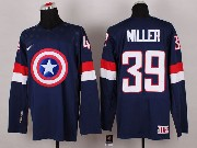 Mens nhl captain america #39 miller blue Jersey
