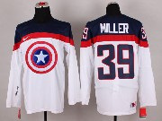 Mens nhl captain america #39 miller white Jersey