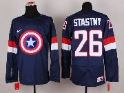 Mens nhl captain america #26 stastny blue Jersey
