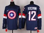 Mens nhl captain america #12 stepan blue Jersey