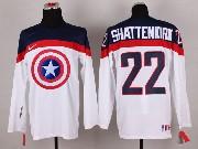 Mens nhl captain america #22 shattenkirk white Jersey