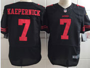 mens nfl San Francisco 49ers #7 Colin Kaepernick black elite jersey