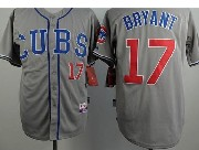 Mens mlb chicago cubs #17 bryant gray Jersey