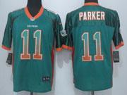 Mens Nfl Miami Dolphins #11 Parker Drift Fashion Green Elite Jersey