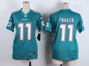 Women  Nfl Miami Dolphins #11 Parker Green Game Jersey