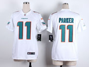 Women  Nfl Miami Dolphins #11 Parker White Game Jersey