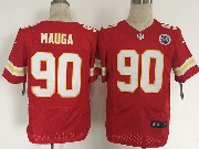 Mens Nfl Kansas City Chiefs #90 Mauga Red Elite Jersey