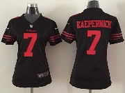 women  nfl San Francisco 49ers #7 Colin Kaepernick black game jersey