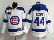 Mens mlb chicago cubs #44 rizzo white&blue (team hoodie) Jersey