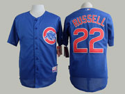 Mens Mlb Chicago Cubs #22 Russell Blue Jersey Sn