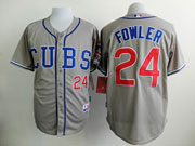 Mens Mlb Chicago Cubs #24 Fowler Gray (cubs) Jersey Sn