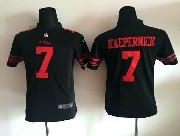Youth Nfl San Francisco 49ers #7 Colin Kaepernick Black Game Jersey Sn