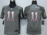 youth 2014 new   New England Patriots #11 Julian Edelman drift fashion gray elite jersey