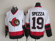 Mens nhl ottawa senators #19 spezza white throwbacks Jersey