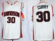 Mens Ncaa Nba Davidson Wildcat #30 Stephen Curry White Jersey