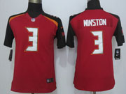 youth nfl Tampa Bay Buccaneers #3 Jameis Winston red game jersey