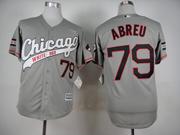 Mens Mlb Chicago White Sox #79 Abreu Gray 2015 New Jersey