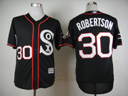 Mens Mlb Chicago White Sox #30 Robertson Black 2015 New Jersey
