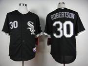 Mens Mlb Chicago White Sox #30 Robertson Black Jersey