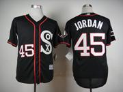Mens Mlb Chicago White Sox #45 Jordan Black 2015 New Jersey Sn