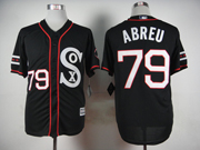 Mens Mlb Chicago White Sox #79 Abreu Black 2015 New Jersey