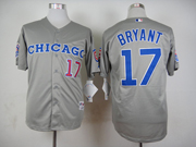 Mens Mlb Chicago Cubs #17 Bryant 1990 Turn Back The Clock Gray Jersey