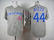 Mens Mlb Chicago Cubs #44 Rizzo 1990 Turn Back The Clock Gray Jersey