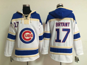 Mens mlb chicago cubs #17 bryant white&blue(team hoodie)Jersey