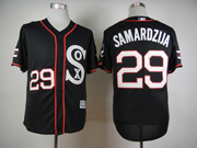 Mens Mlb Chicago White Sox #29 Samardzija Black 2015 New Jersey