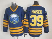 Mens nhl buffalo sabres #39 hasek blue throwbacks Jersey