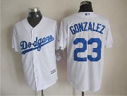 Mens mlb los angeles dodgers #23 gonzalez white (majestic) Jersey
