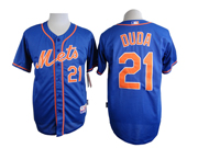 Mens mlb new york mets #21 duda blue (orange number) Jersey