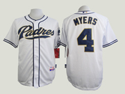Mens mlb san diego padres #4 myers white Jersey