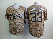 Mens mlb san diego padres #33 shields camo (blue number) Jersey