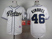 Mens mlb san diego padres #46 kimbrel white Jersey
