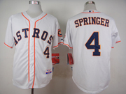 Mens Mlb Houston Astros #4 George Springer White Jersey
