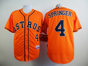 Mens Mlb Houston Astros #4 George Springer Orange Jersey